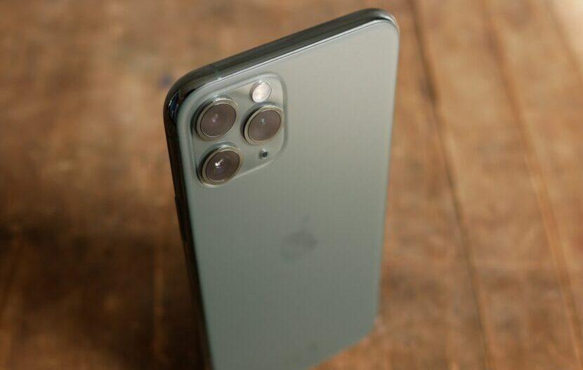 iPhone 11 Pro вид сверху