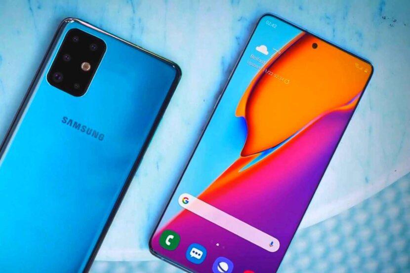 Синий Samsung Galaxy S20 Plus