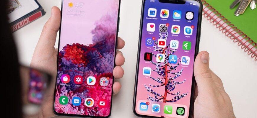 Samsung Galaxy S20 Plus и iPhone 11 Pro