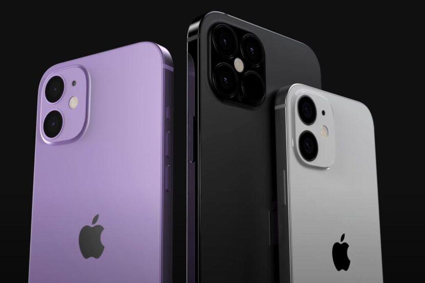 Сиреневый, черный, белый Iphone 12