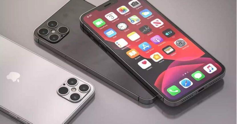 Белый и черные Iphone 12