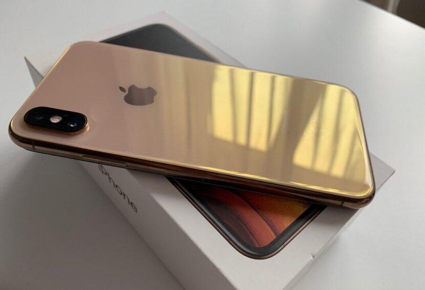 iPhone XS золотой