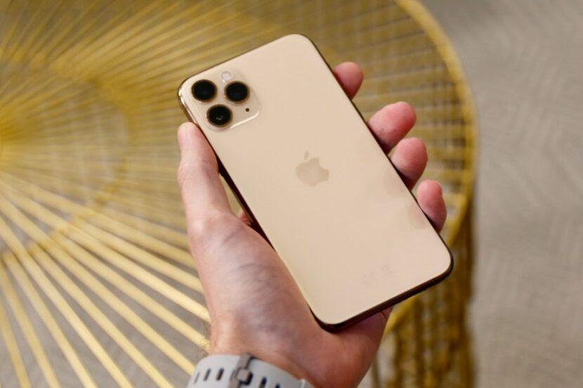 Золотой Iphone 12