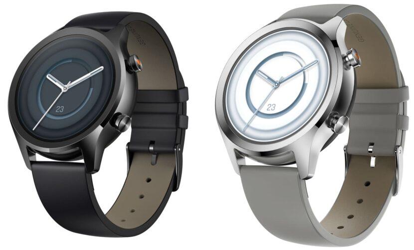 Черные и серебристые умные часы Mobvoi TicWatch C2+