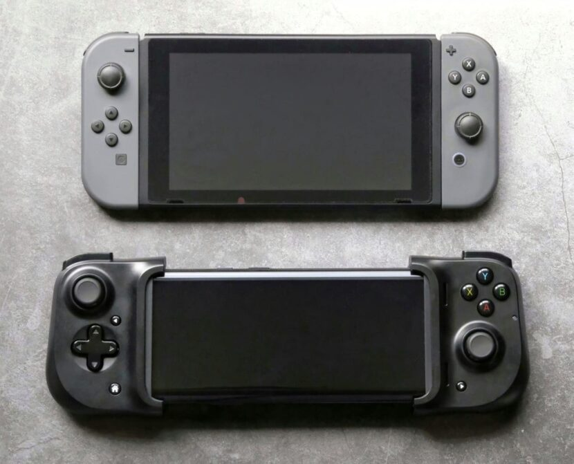 Смартфон с геймпадом Razer Kishi в сравнении с Nintendo Switch