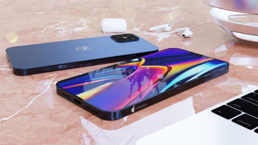 Черный Iphone 12 на столе