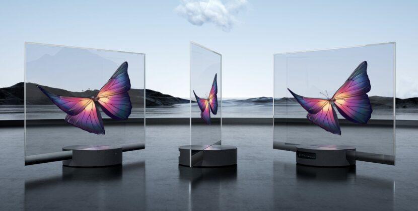 три прозрачных телевизора