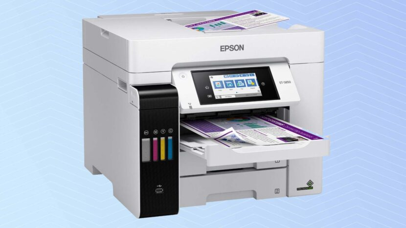 Печать на белом Epson EcoTank Pro ET-5850