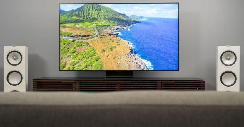 телевизор с колонками Samsung Q90 QLED TV