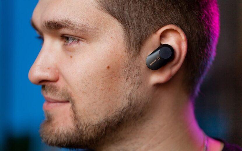 Sony WF-1000XM3 в ушах