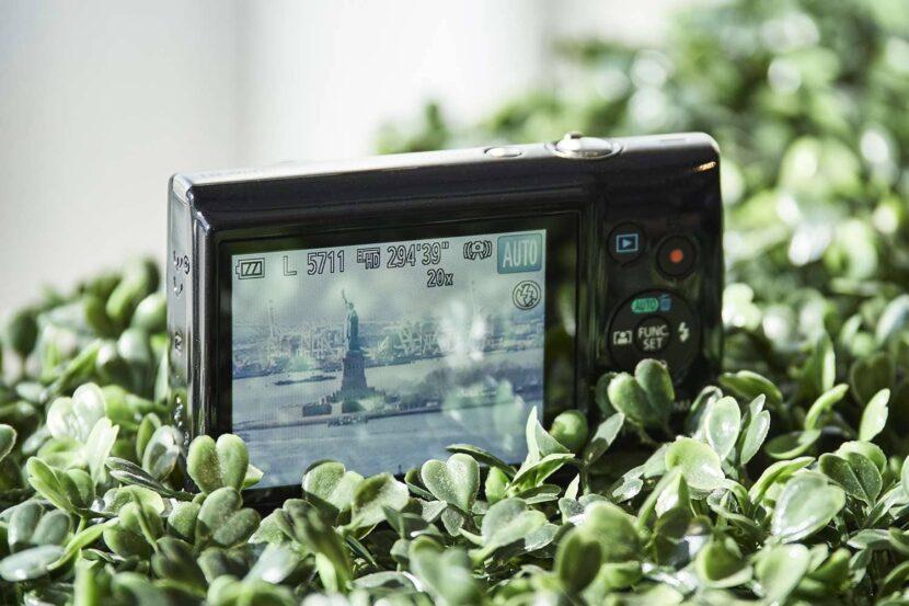 Процесс съемки на Canon PowerShot Elph190 IS