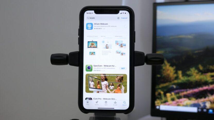 смартфон в качестве веб-камеры
